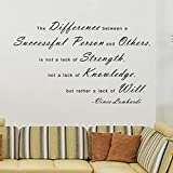 Pop Decors WL-0044-Va Inspirational Quote Wall Decal, The Difference Between A Successful Person and Others