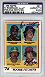 Roy Thomas & Dennis Lamp Autographed 1978 Topps Card #711#83309030 - PSA/DNA Certified - Baseball Slabbed Autographed Cards