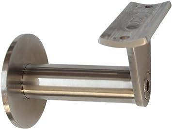 Edelstahl Handlaufhalter HLH-0030 gew/ölbte Auflage Handlauftr/äger