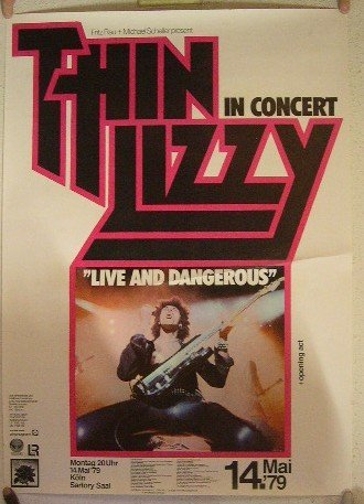 Thin Lizzy May 14th 1979 Live And Dangerous Poster Concert Gig