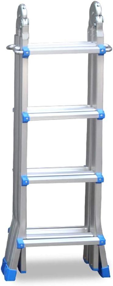 Escalera extensible/ Escalera telescópica Little Giant Ladder Aluminum - Escalera con extensión Profesional portátil, Azul, 150 kg, 4 m, 4 Pasos: Amazon.es: Hogar
