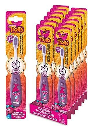 Cepillo de dientes infantil luminoso de Trolls: Amazon.es: Juguetes y juegos
