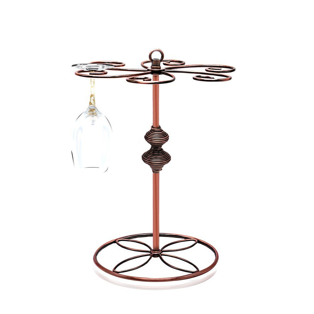 Classic Wine Glass Cup Holder, Tabletop Freestanding Stemware Wine Glass Holder Storage Rack Hanger Tall Beverage Glassware Champagne Glass Hanging Drying Rack Stand Holder for Kitchen Bar Restaurant
