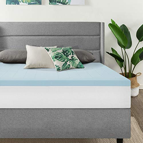 Best Price Mattress King 1.5 Inch Gel Memory Foam Bed Topper with Cooling Mattress Pad Size, Blue ()
