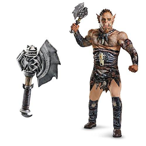 Warcraft Durotan Deluxe Muscle Adult Costume Bundle Set X...