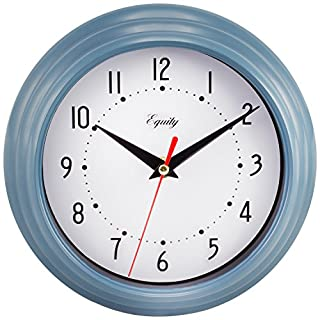 La Crosse Technology Equity 25014 Round Plastic Analog Wall Clock, 8-Inch, Slate Blue (B000QOFMVM) | Amazon price tracker / tracking, Amazon price history charts, Amazon price watches, Amazon price drop alerts