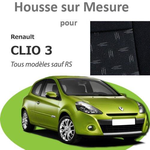 Amazon.es: Funda de asientos en medida Premier para Renault Clio 3 - Negro