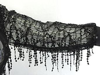 Zantt Womens Long Sleeve V-Neck Mesh Perspective Tassels Bandage Jumpsuits