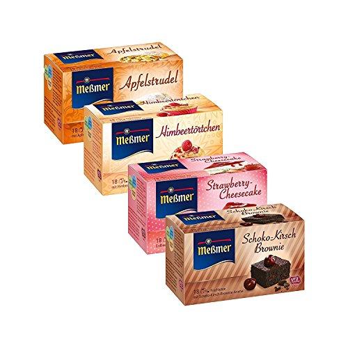 Messmer Cake Tea Set (Strawberry Cheesecake, Chocolate Cherry Brownie, Apple Swirl, Raspberry Tartlet)
