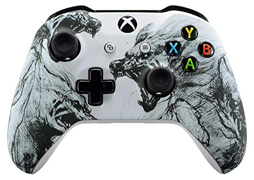 Wolf Spirit Xbox One S/X Rapid Fire Custom Modded Controller 40 Mods for All Major Shooter Games (with 3.5 Jack) 1