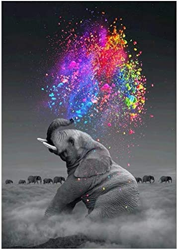 DIY Full Drill 5D Elephant Diamond Painting Embroidery Arts Craft Home Decor