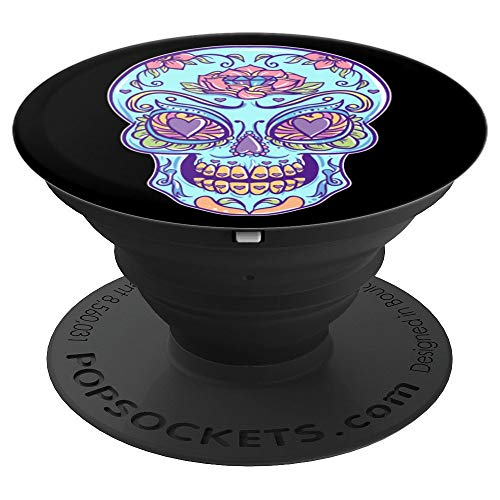 (Sugar Skull for Halloween Dia de Los Muertos - PopSockets Grip and Stand for Phones and)