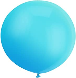 36 Inch Giant Latex Balloon Pearlescent Blue (Premium Helium Quality) Pkg/6 by ZiYan