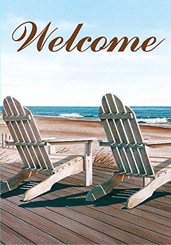 Morigins Welcome Summer Beach Chairs Outdoor Garden Flag Dou