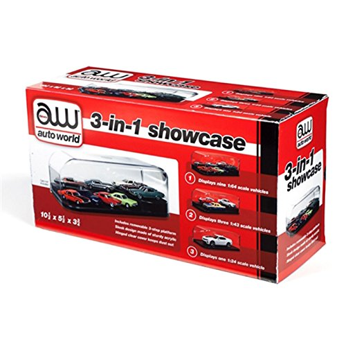 Auto World Round 2, LLC. RDZ 3 in 1 Display Case (Interchangeable Inserts), RDZAWDC004