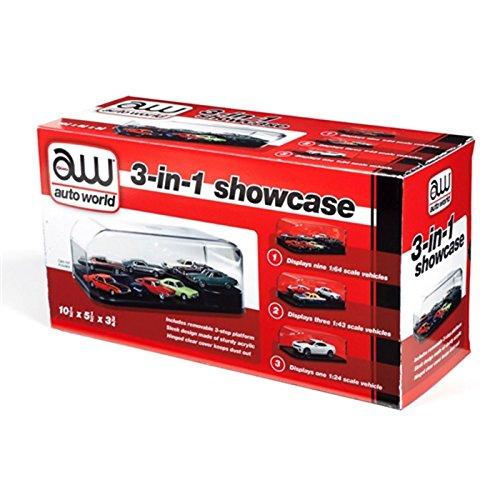 - Auto World Round 2, LLC. RDZ 3 in 1 Display Case (Interchangeable Inserts), RDZAWDC004
