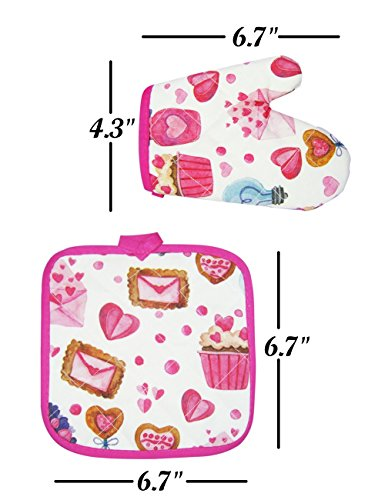 Cupcake Chef Set for Kids Cooking, Play Set with Apron for Girls,Chef Hat, and Other Accessories for Toddler,Career Role Play, Great Gift for Children Pretend Play, Size Medium 5-12 11 Pcs (Chef set) by NLooking (Image #4)