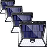 82 LED Solar Lights Outdoor, LUSCREAL Motion Sensor Light Outdoor Wireless Waterproof Solar Powered Motion Sensor Security Light Solar Wall Lights Outdoor for Front Door, Yard, Deck, Porch, 4 Pack