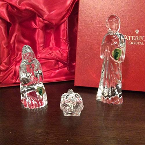 Waterford The Holy Family Nativity, Set of 3 jesus, Mary And Joseph