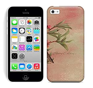 Best Power(Tm) HD Colorful Painted Watercolor Pink Flowers And Birds Hard Phone Case For Iphone 5C wangjiang maoyi by lolosakes