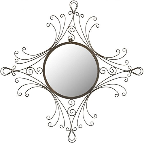 Safavieh Home Collection Maltese Mirror, Antiqued Black (Sunburst Accent)
