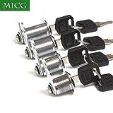 BONA 5pcs/lot Security Drawer Cam Cylinder Door Mailbox Cabinet Tool Box Lock 2 Keys Hardware Locks (Keyed Alike 30mm)