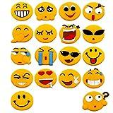 Bloss 18 Pack Emoji Fridge Magnets Refrigerator...