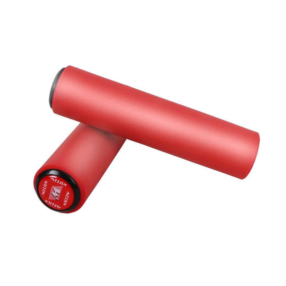 VORCOOL 1 par Pu/ños de Silicona Antideslizante a Prueba de Golpes Apretones de Bicicleta de Monta/ña de Ciclismo Manillar Universales Amortiguadores de la Bici Rojo