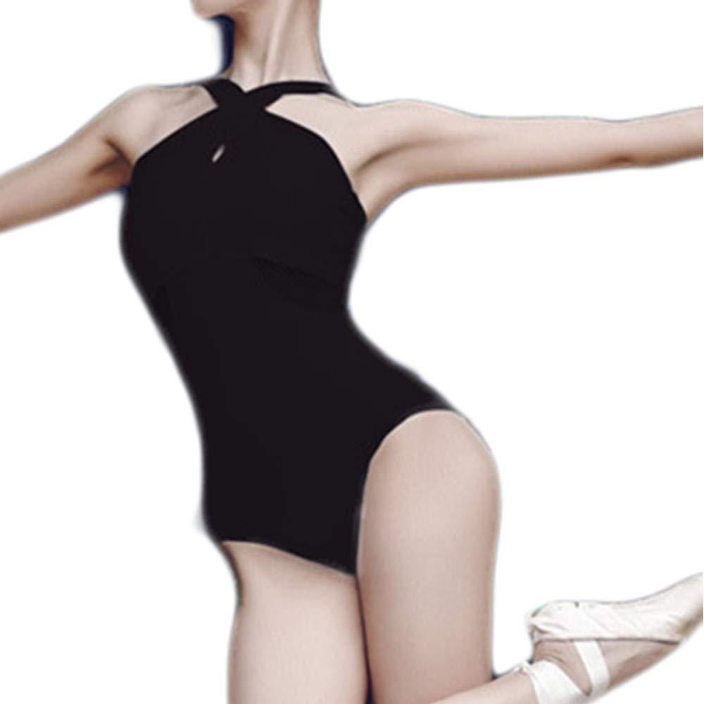 Womens Ballet Leotards,Womens Jumpsuit Ballet Training Suit Adult Performance V-Neck Halter Strap