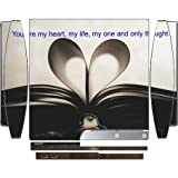 Sticker Skin Print Old Paper Book Quote Romance Heart Printed Design Playstation 3 & PS3 Slim Vinyl Decal Sticker Skin by Smarter Designs