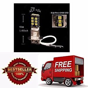 WTG High Power H3 Canbus LED 6000K Super White 15W 800 Lumens Fog Driving DRL Light Bulb Lamp Vehicle Car (Contains 2 LED Bulbs)