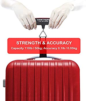 Digital Premium Luggage Scale up to 110lb//50kg Red Color