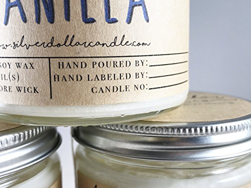 Personalized 8oz Handmade 100% Soy Wax Scented Candle by Silver Dollar Candle Co. by Silver Dollar Candle Co. (Image #5)