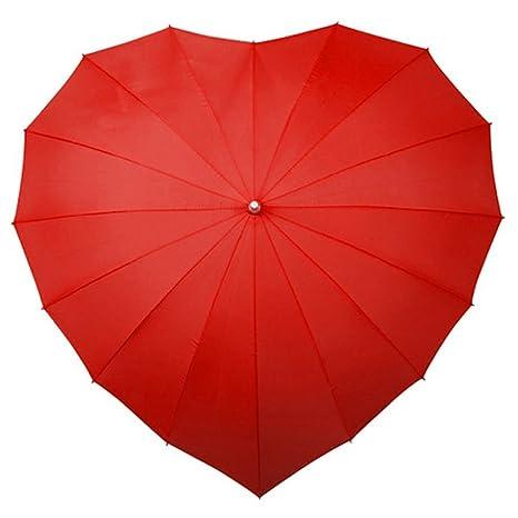Impliva Impliva Paraguas clásico, 110 cm, Rojo (Rot)