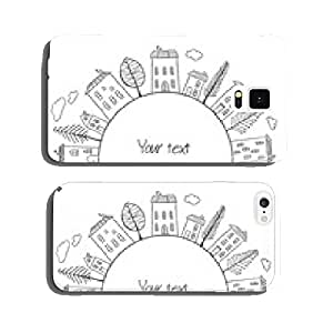 Houses doodles in circle cell phone cover case Samsung S5