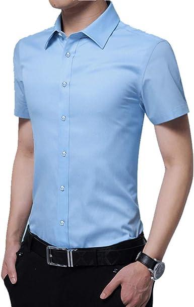 NOBRAND Camisa sin planchar, para jóvenes, vestido de trabajo, chaqueta de verano: Amazon.es: Ropa y accesorios