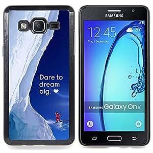 """Qstar Arte & diseño plástico duro Fundas Cover Cubre Hard Case Cover para Samsung Galaxy On5 O5 (Grande ideal nieve invierno de Alaska Corazón Coraje"""")"""