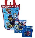 Paw Patrol Gift Bag travel Bath Set and Puzzle Gift Bag bundle -3 items: 2 piece shampoo, body wash, puzzle, stocking gift bag