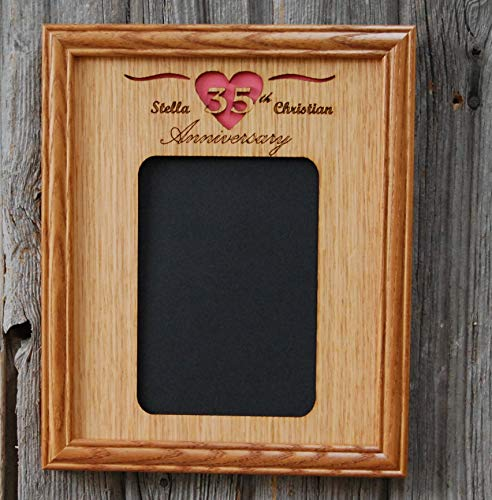 8x10 Anniversary Picture Frame - Holds 5x7 Photo (Opal Wedding Frame)