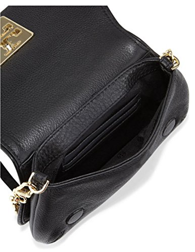 Tory Cross Crossbody Leather Bag body Black Britten Mini Burch Zxrv1nwqAZ
