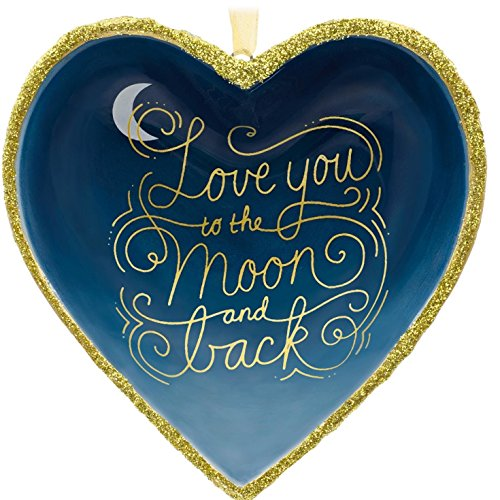 Love Ornament (Hallmark Signature Premium Love You to the Moon and Back Porcelain Christmas Ornament)