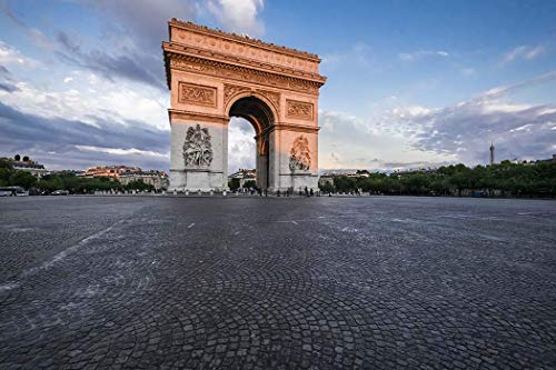 Paris, Photography, Arch of Triumph, Place Charles de Gaulle, Victory, Glory, National symbol, sunset, tomb of unknown soldier, France, Europe, Art Print, Wall Art, Gift, Decor, Photo