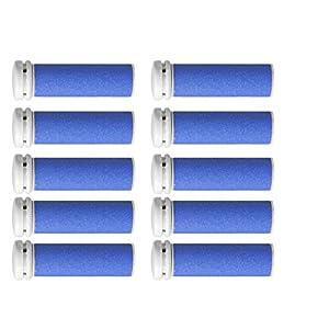 Super Coarse Micro Mineral Replacement Rollers Compatible with Emjoi Micro-Pedi Callous Remover (10 PACK)