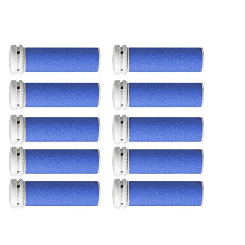 Super Coarse Micro Mineral Replacement Rollers Compatible with Emjoi Micro-Pedi Callous Remover (10 PACK) by IPEDI CARE