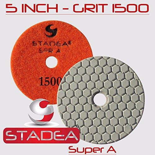 Stadea Diamond Polishing Pad 5'' Dry - Concrete Granite Stone Glass Polishing Grit 50, DPPD05SPRA050G1P by STADEA (Image #7)