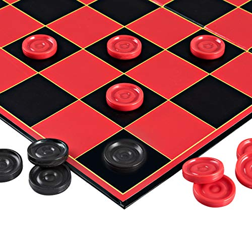 Point Games Checkers Game with Super Durable Board - Indoor/Outdoor Fun Board Game for All Ages]()