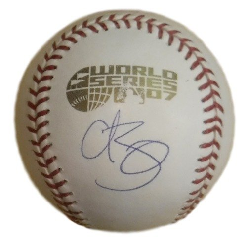 Curt Schilling Autographed Boston Red Sox OML 2007 World Series Baseball ()