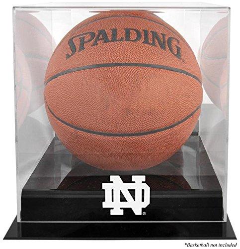 Notre Dame Fighting Irish Black Base Logo Basketball Display Case with Mirror Back
