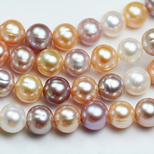 10-11mm Cultured Freshwater Pearl Strand, Mixed Natural Color, Lavender (Cultured Cream)