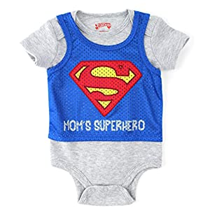 Superman Baby Bodysuit Pinnie